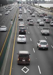 Caltrans Traffic Map Clogged Diamond Lanes Mean Carpoolers Get Little Relief San