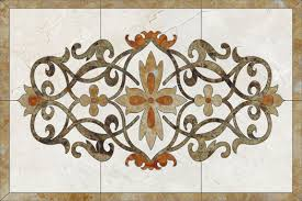 marble waterjet medallions for floor tile products from