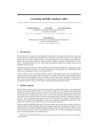 learning melodic analysis rules pdf download available