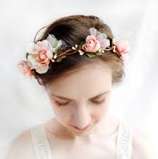 flower headpiece 5 white and color floral weddings
