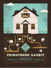 rabbit poster wagers creative frightened rabbit columbus poster