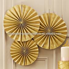 hanging paper fans gold fan party decorations paper fans backdrop hanging paper fans
