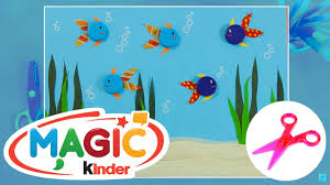 easy to make paper aquarium arts and crafts for kids get