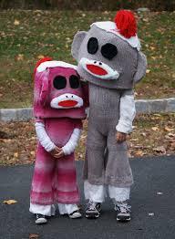monkey costume halloween halloween past 2010 sock monkey boy and sock monkey bits