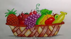 fruit basket how to draw a beautiful fruit basket step by step very easy