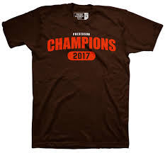 shirt proclaiming cleveland browns the champions of the preseason