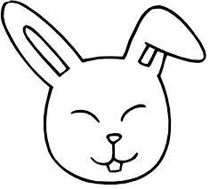good rabbit hopping clip art black white rabbit coloring
