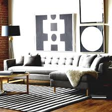 Gold Table L Living Room Design With Edward L Shaped Sectional Gray Upholstered
