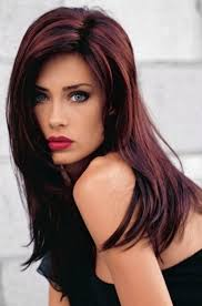 brunette hairstyle with lots of hilights for over 50 brunette with red highlights not sure this would look good on me