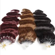 micro rings free shipping human hair micro rings extensions wave1g