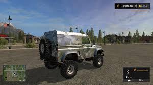 land rover dakar land rover defender 90 v1 for fs 17 farming simulator 2017 fs ls mod