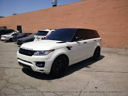 land rover range rover sport matte black 2014 range rover sport wrapped in satin pearl white by dbx