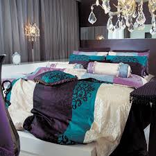 Amazon Duvet Sets Amazon Com 820tc Turquoise U0026 Purple Damask Duvet Cover Set