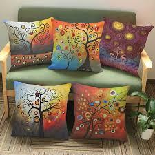 coussin décoratif pour canapé vie arbre coloré ciel salon coussin décoratif pour canapé artistique