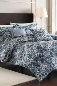 King Comforter Sets Blue Nicole Miller Porcelain Blue King Comforter U0026 Sham Set
