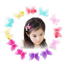 12pcs mesh style butterfly hair clips hair bow cuter kids toddlers