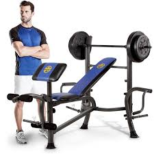 Marcy Bench Press Set Marcy Mwb 36780b Starter Weight Bench Press 35kg Set U0026 Butterfly