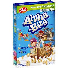 Breakfast Food Cereal Walmart Com by Post Alpha Bits Cereal 12 Oz Box Walmart Com