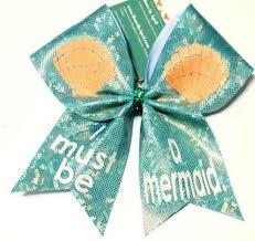 mermaid ribbon i must be a mermaid cheer bow