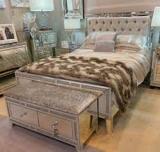 Mirror Bed Frame Tuscany Mirrored King Size Bed With Swarovski Crystals Ebay