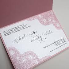 Vintage Lace Wedding Invitations Pink Vintage Lace Wedding Invitation Elite Wedding Looks