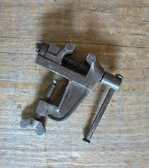 small bench vise clamp vise vintage antique small 1 3 8