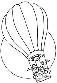 air balloon coloring free printable coloring pages