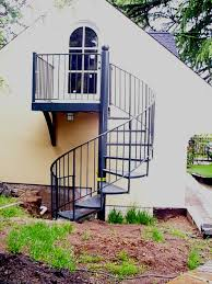 stair stunning outdoor home design with black iron outdoor