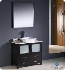 contemporary vessel sink vanity tremendeous fresca torino 36 espresso modern bathroom vanity with