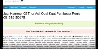 hammer of thor jember klinikobatindonesia com agen resmi vimax
