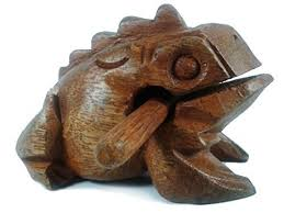 lastwizard percussion small wood carving frog musical instrument