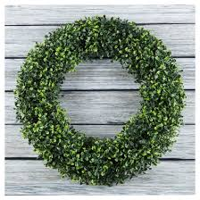 artificial boxwood wreath artificial boxwood wreath 19 5 garden target