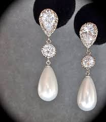 wedding earrings drop pearl earrings sterling posts pearl drop earrings brides