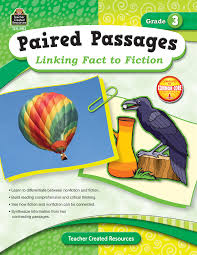 paired passages linking fact to fiction grade 3 tcr2913