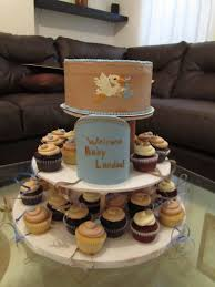 Baby Shower Cake And Cupcakes Stork Baby Shower Cake And Cupcake Tower Cakes U0026 Pastry Shop