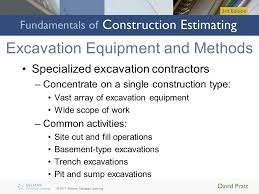 Excavation Estimating by Pricing Excavation And Backfill Ppt