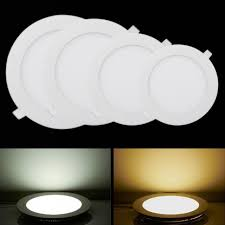 ceiling light flat round ultra thin led panel light ac 110v 220v ceiling downlight round led