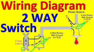 two way electrical switch wiring diagram