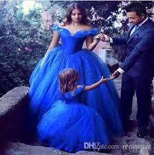Design Your Wedding Dress Discount Royal Blue Ball Gown Cinderella Princess Wedding Dresses