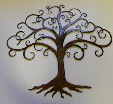 charming natural tree of life metal wall art decor sculpture 31 x