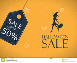 halloween sale poster template special holiday stock vector