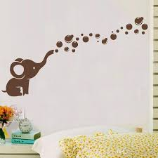 Cheap Wall Decals For Nursery Elephant Bubbles Diy Vinyl Wall Sticker Waterproof