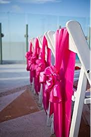pink chair sashes 10pcs satin chair sash fuschia home kitchen