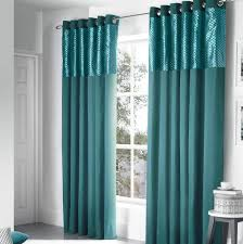 Teal Curtains Design Savoy Panel Eyelet Teal Fully Lined Ready Made Curtains