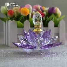 xintou lotus flower perfume bottle ornaments purple feng