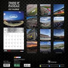 2017 tracks nascar wall calendar nascar 9781624387494 amazon