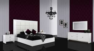 glam white crocodile lacquer bed with faux crocodile leather