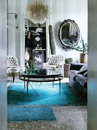 Peacock Blue Area Rug How To Layer Rugs Colour Pop Transitional Rugs And Living Rooms
