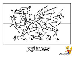 welsh flag colouring page funycoloring