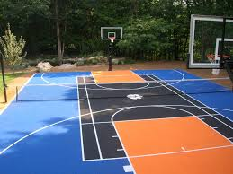 Backyard Basketball Court Backyard Basketball Court Lighting Home Outdoor Decoration